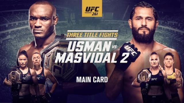 3 Title Fights, 15k Fans, Previewing UFC 261: Usman vs Masvidal 2