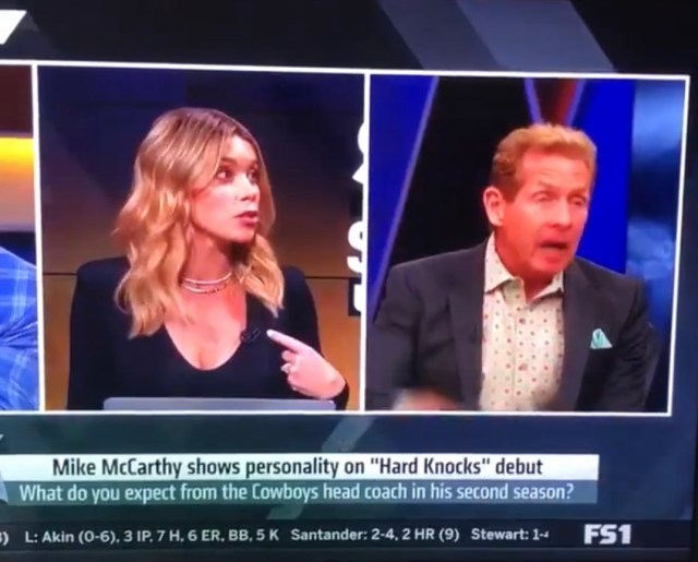Skip Bayless Was Emasculated Yesterday Live On TV
