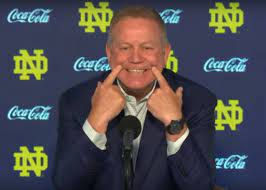 """The Origin Behind Brian Kelly's """"Execution"""" Joke, and Why it Didn't Land"""