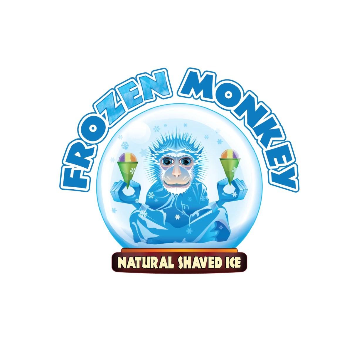 Frozen Monkey Natural Shaved Ice Logo