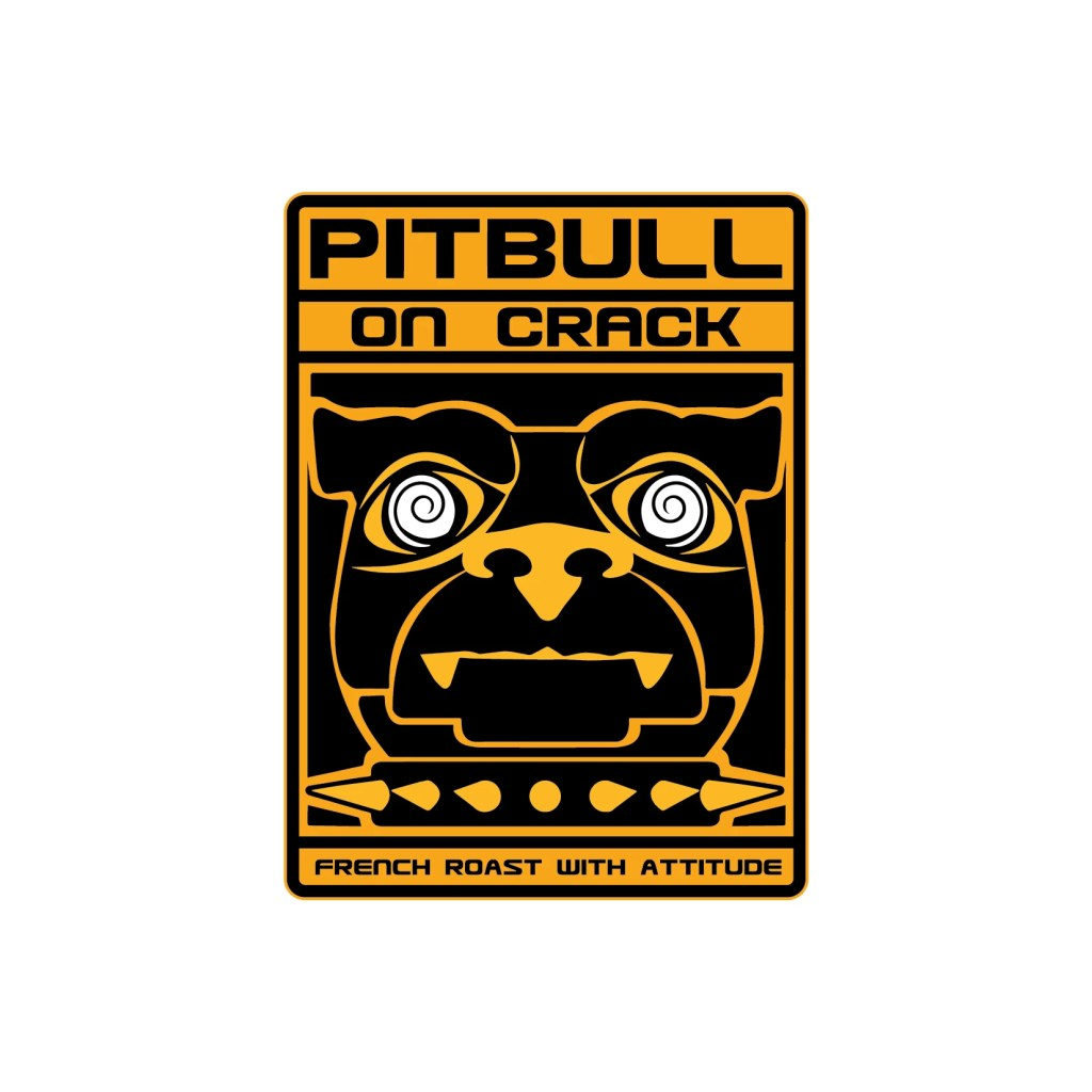 Pitbull On Crack Logo