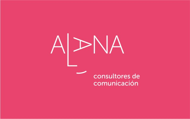 logo Alana fondo rosa