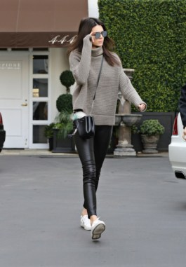Khloe Kardashian and younger sister Kendall Jenner are seen leaving Epione skin care center together after an appointment. The sisters drive in separate cars but as they walk out together they are a fearsome duo. Sunday, December 20, 2015 X17online.com