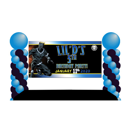Black Panther Birthday Banner Made At The Brat Shack Party Store Ny