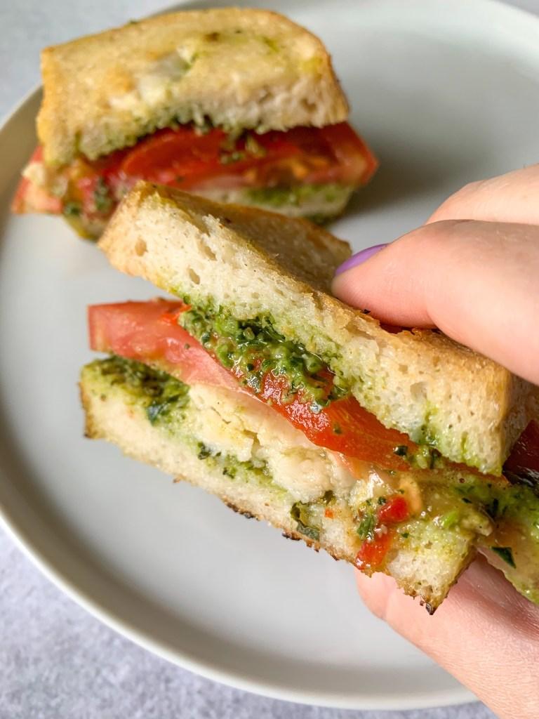 Gluten-Free Grilled Mozzarella Pesto Sandwich
