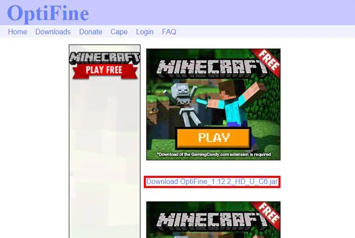 Step 2 - How To Download & Install Optifine in Minecraft