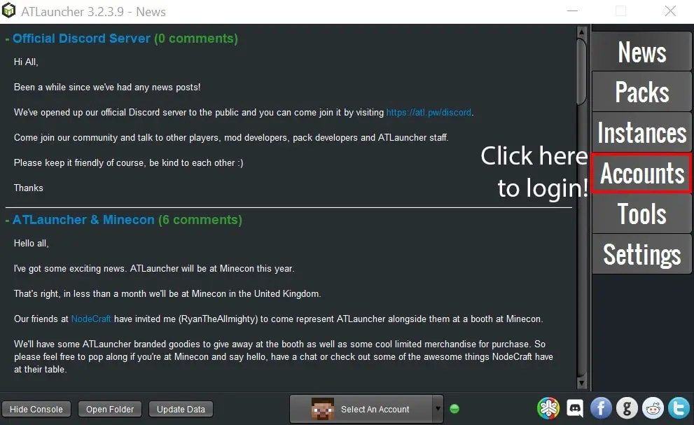 Click Here To Login To The ATLauncher