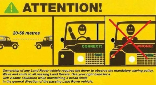 things every land rover owner should know - waving