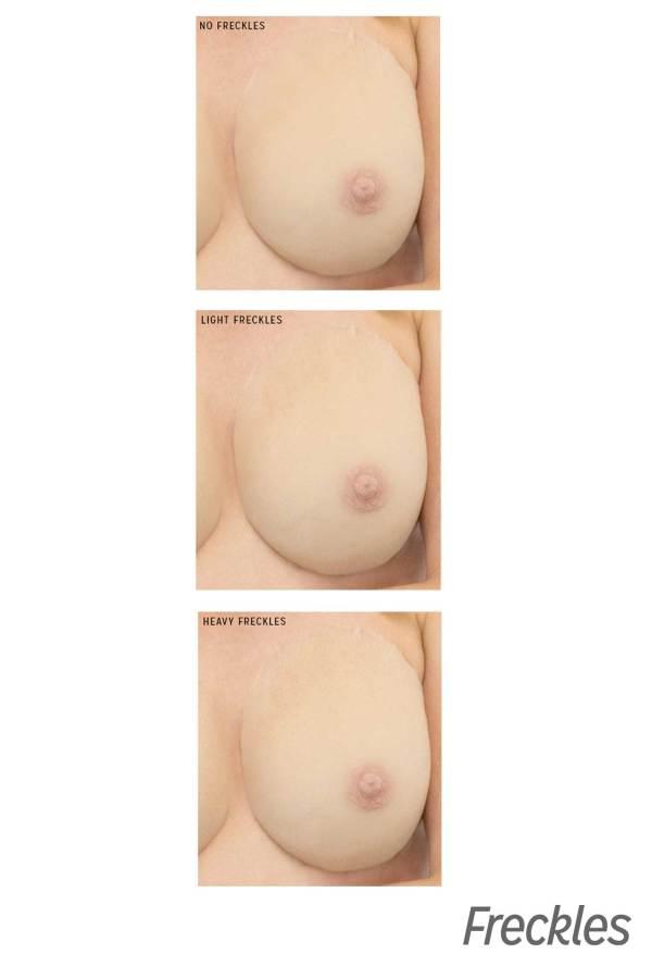 Gold Seal CustomSkin breast form freckle options