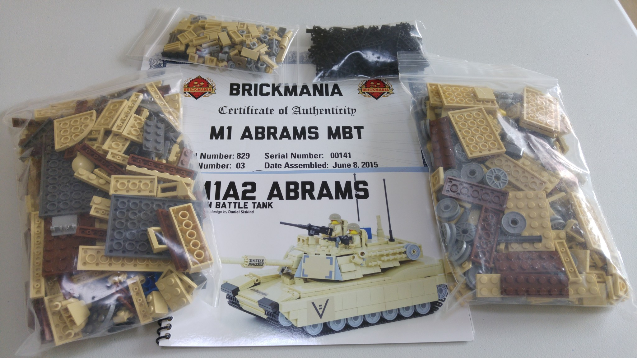 BrickMania Kit Review: M1 ABRAMS Main Battle Tank (829) - The BrickHorse