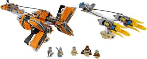 Anakin Skywalker and Sebulba's Podracers