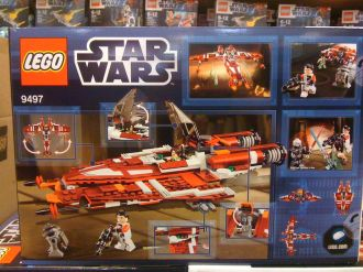 Lego Republic Striker Starfighter 9497 Box Back