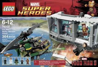 LEGO Super Heroes Iron Man Malibu Mansion Attack 76007