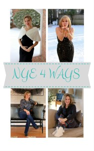 New Year's Eve 4 Ways–Glam, Cocktail, Casual, & Lounge