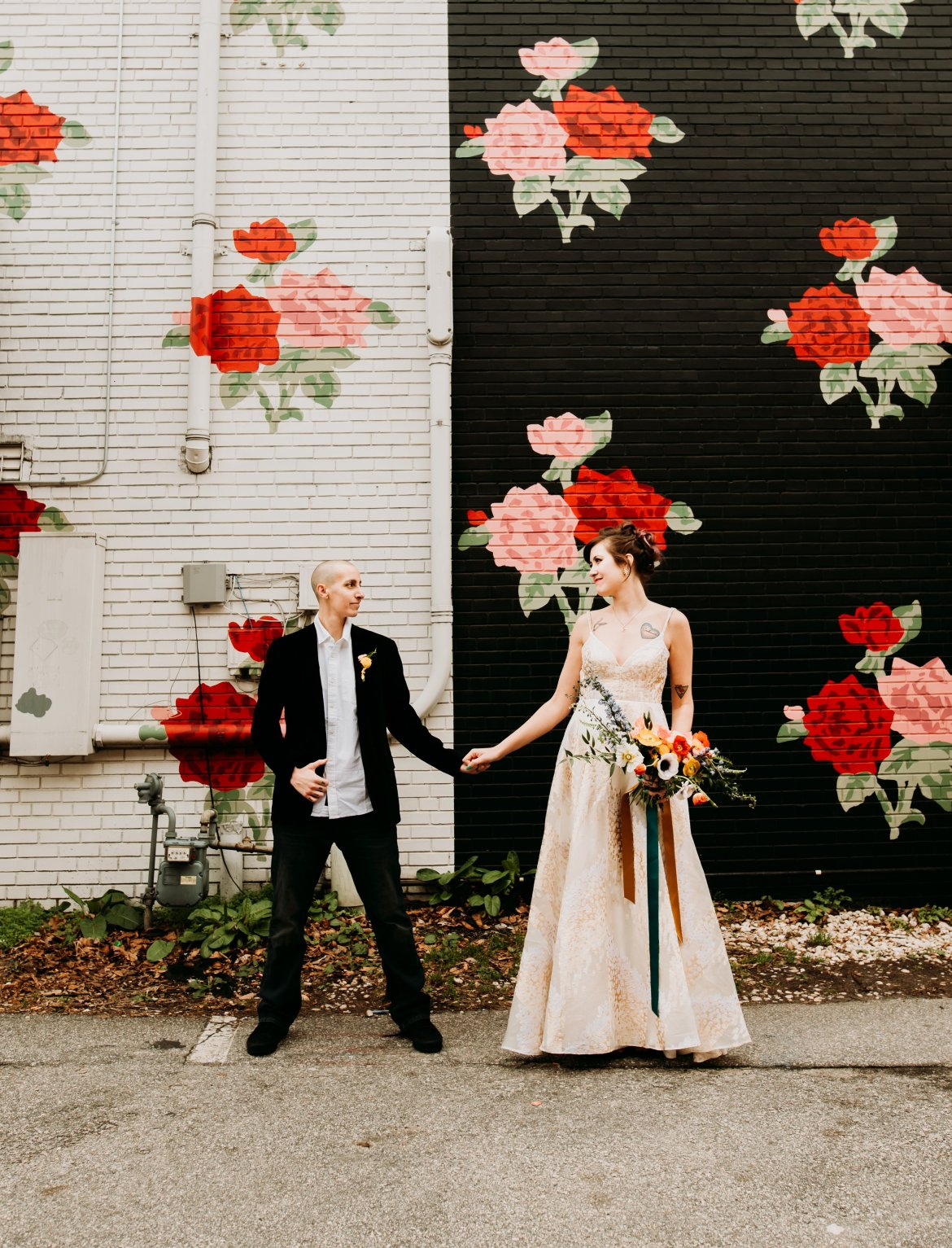 Ep 308: Equally Wed with Kirsten Palladino | The Bridechilla Podcast | Photo by Morgan Caddell Photography, Floral Design by Folie à Deux Events | HMUA by Wedded Kiss | Gown via Gilded Bridal