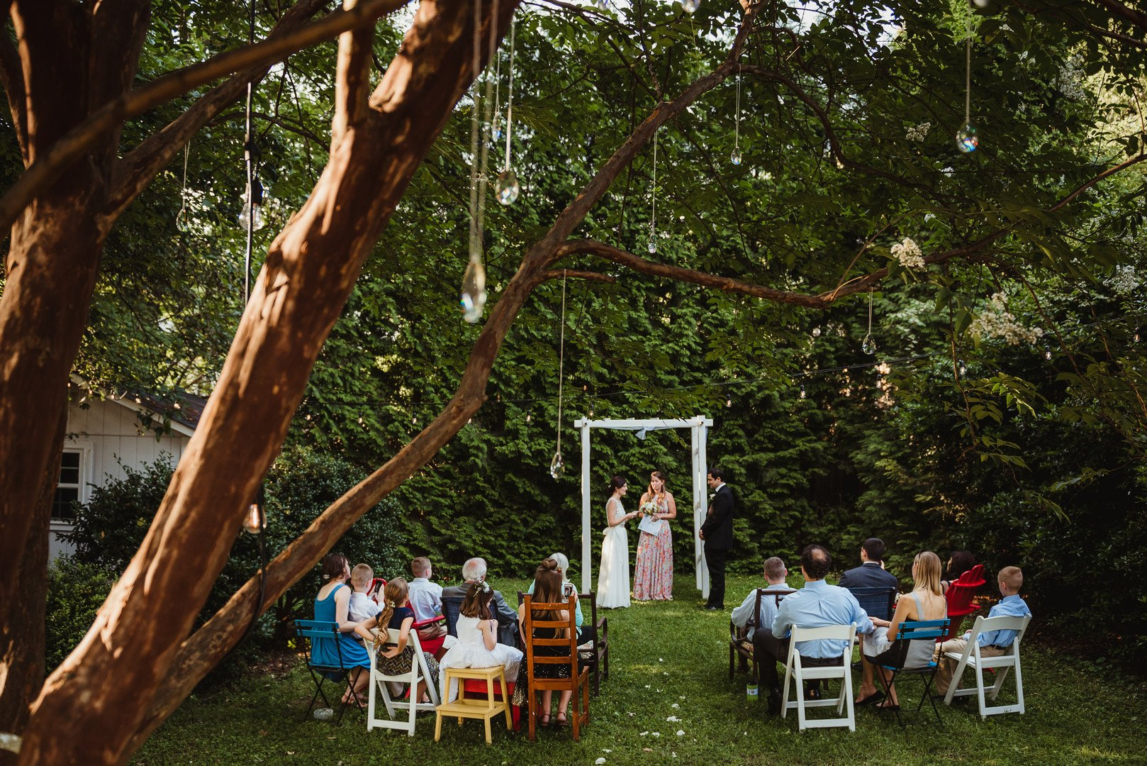 Betsy and Suliko\'s Intimate Backyard Wedding in Raleigh, NC ...