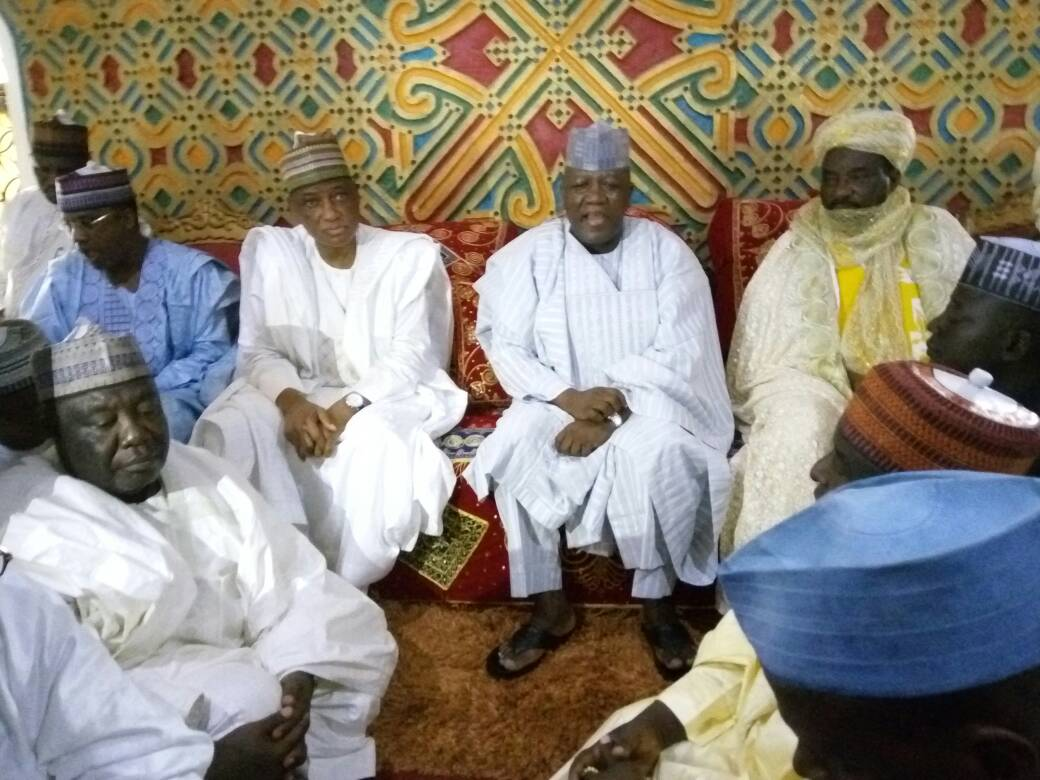 Gov Yari during the condolence - Emir lauds NGO for empowering rural women