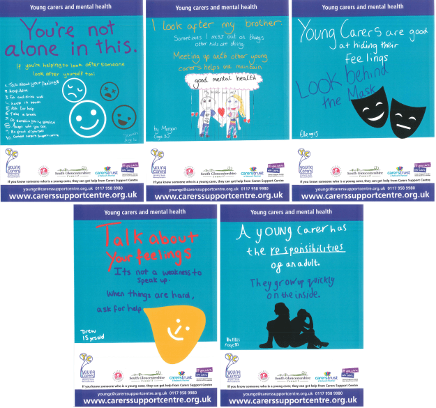 Young Carers Poster Collage