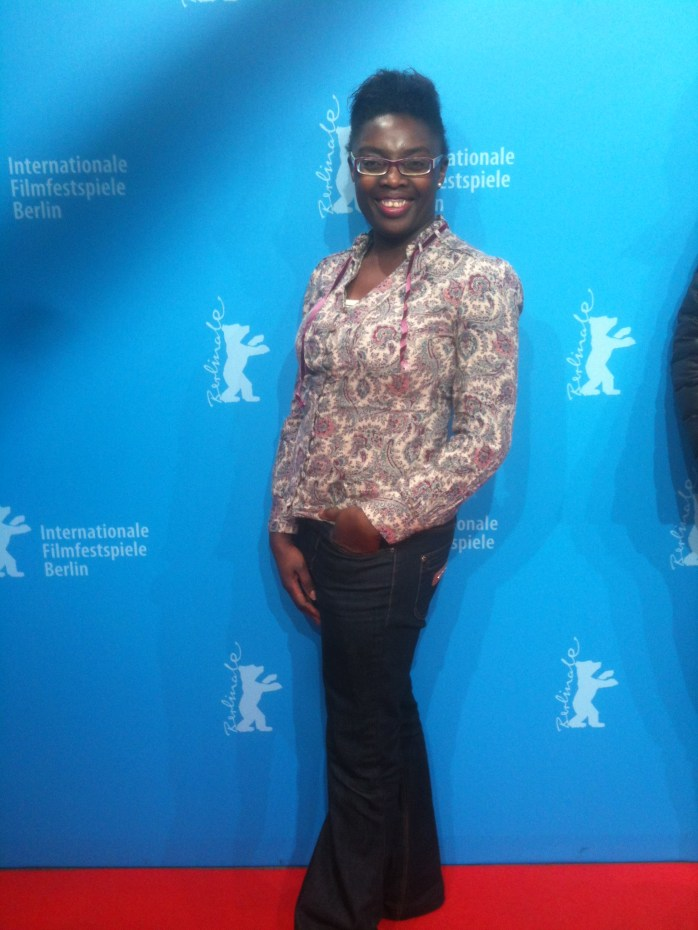 On the red carpet at the Internationale Filmfestspiele, Berlin or at the International Film Festival, Berlin.