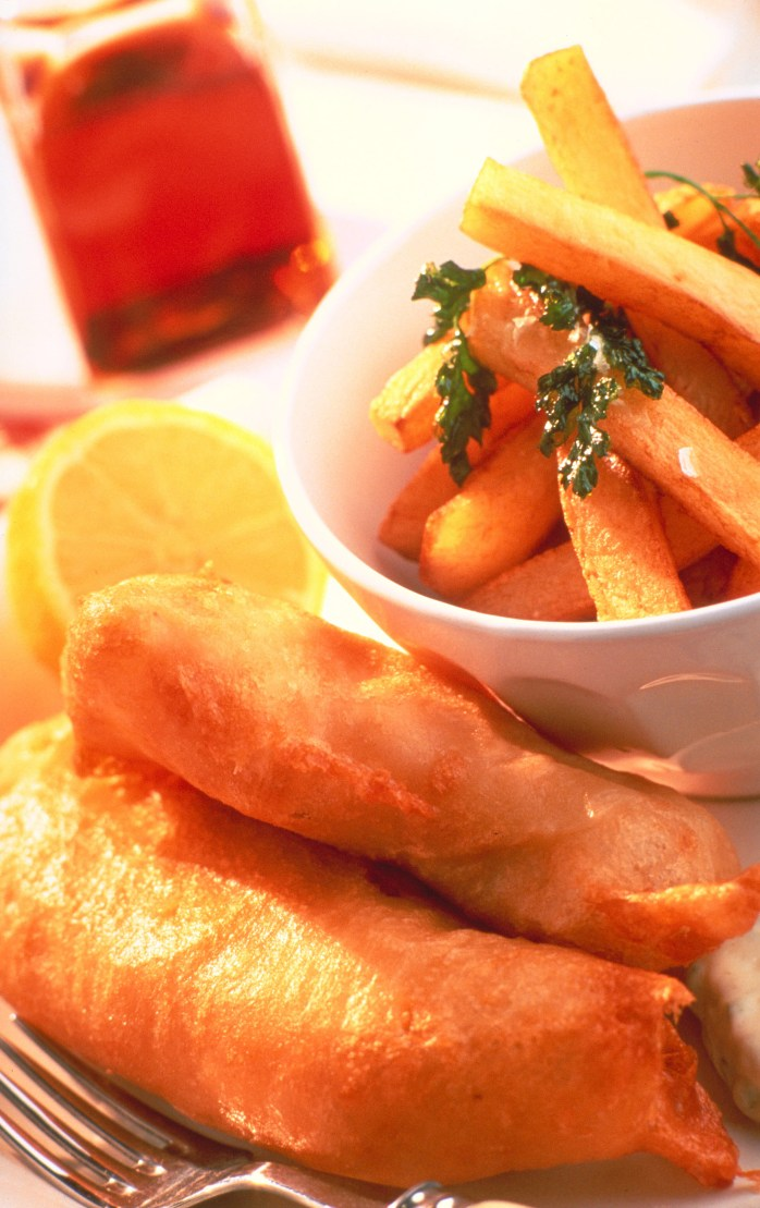 fish and chips; fish; chips; fries; English fries; English food; traditional food; English traditional food; British food; British traditional food; English local food; British local food; battered fish; food; eat; English; English; British; UK; Europe; travel; eat