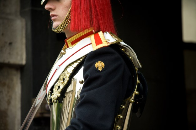 All you need is a stiff upper lip as a rep. of The Royal Horse Guards.