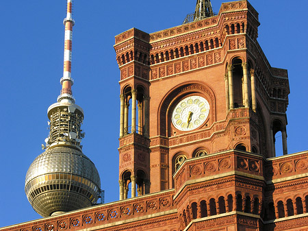 The Berliner Rathaus or the Red Town Hall in Berlin.