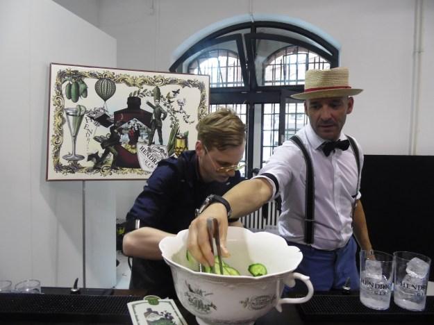 Gin cocktails at PREMIUM. Berlin Fashion Week.