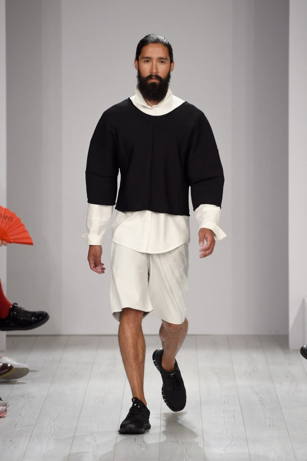 These bushy beards are going around! Vektor Show - Mercedes-Benz Fashion Week Spring/Summer 2015