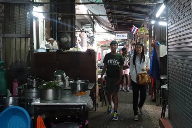 A typcal Thai kitchen restaurant.