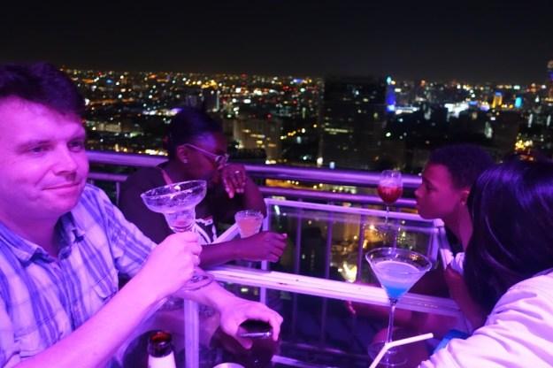 Cocktails at the rooftop bar of Cloud 47, Bangkok.
