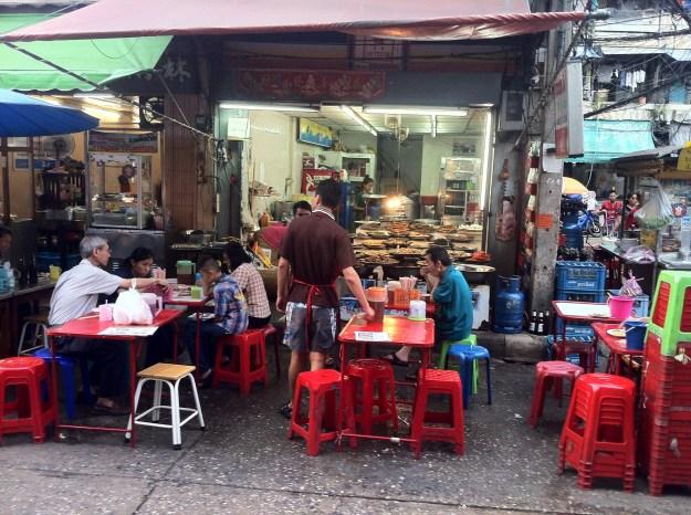 Eating together. Working together. Living together. In Bangkok, Thailand.