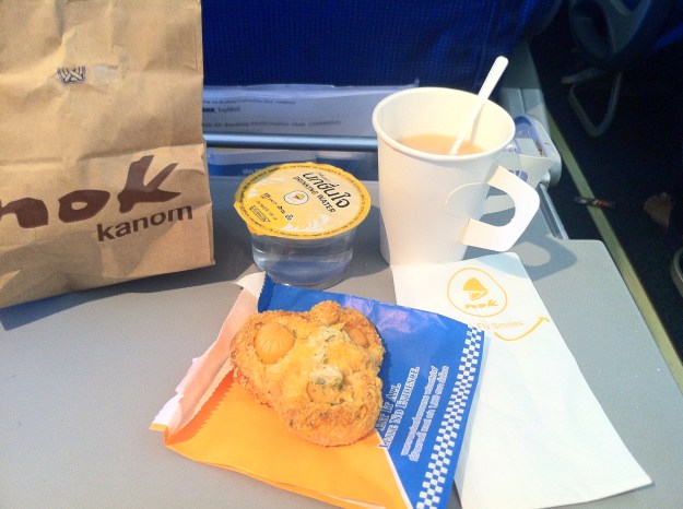 Nok Air: A snack and a drink.