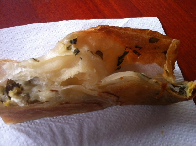 Delicious home-made Börek from Leylak.