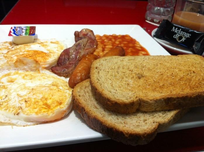 Not a Dutch breakfast. In Amsterdam!