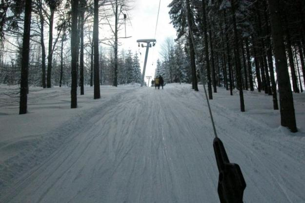 This is what it looks like when you're whizzing up the pole lift!