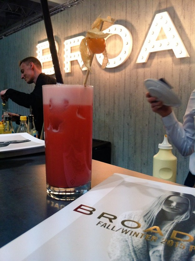 My very own Planters' Punch at Fashion Week Berlin. It really way quite yum!