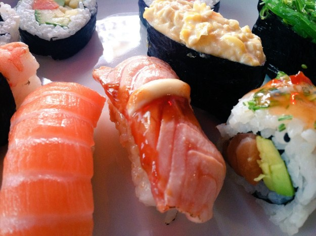 Hang onto your seat! There's more sushi!