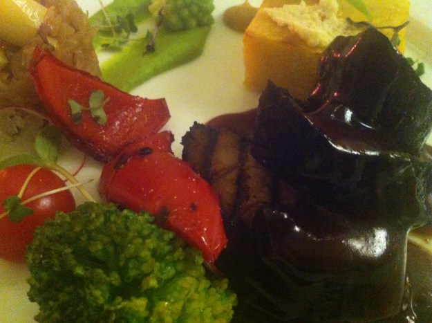 Grilled vegetables at My City Hotel in Tallinn.