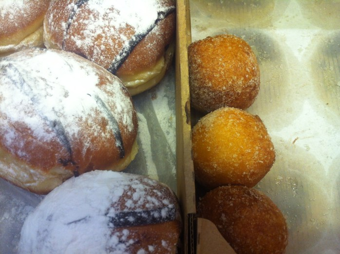 A set of Hungarian doughnuts and sugary balls!