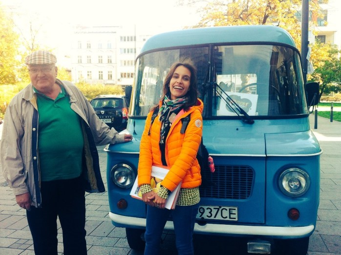 Maja - our guide & Marek - our driver from Adventure Warsaw.