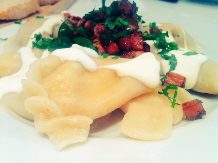 Delicious pierogi made from my own fair hands in Warsaw!