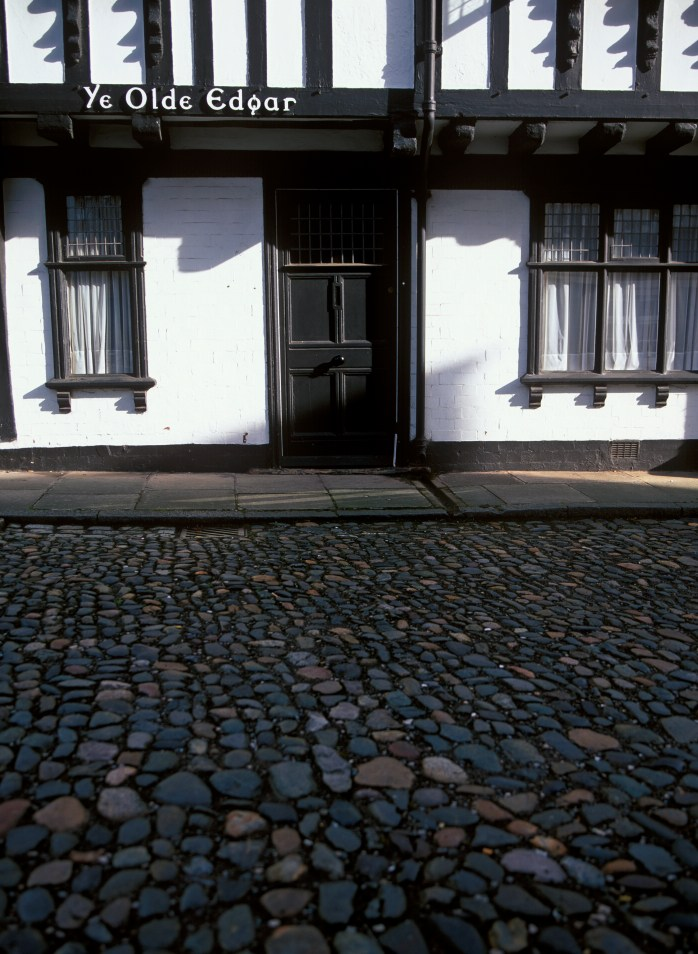 Tudor architecture & very cobbled stones!