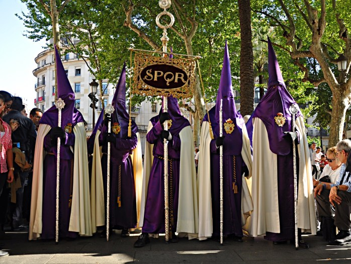 The Catholic Brotherhood at Easter. In Seville. I was shocked!