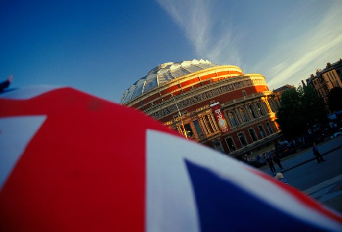 A fine reminder of the Last Night of the Proms,