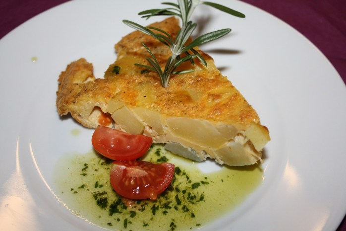 Tortilla Española or a Spanish Omelette.