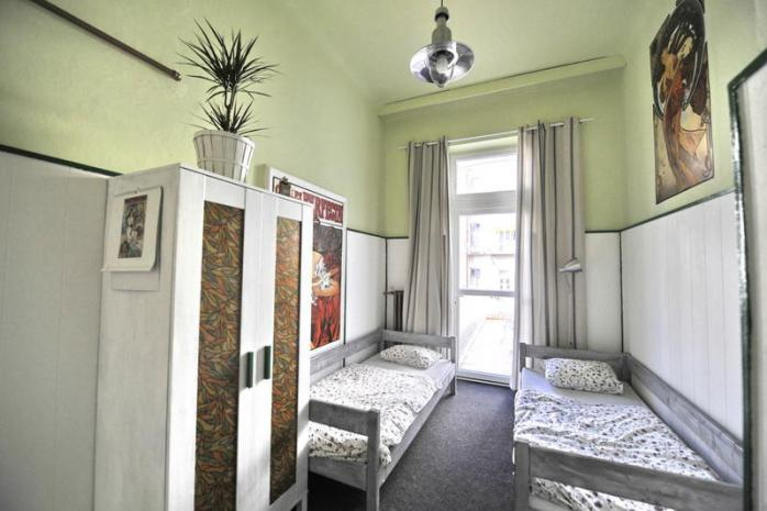 Our bedroom at the Downtown Backpacker's Hostel in Bratislava, Slovakia!