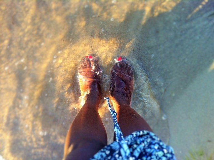 Look! It's my feet! A 5 minute guide to German food. On the Baltic Sea beach!