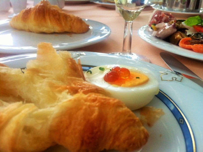 A generous breakfast buffet of both Baltic and Nordic origin, at the Usedom Palace Hotel.