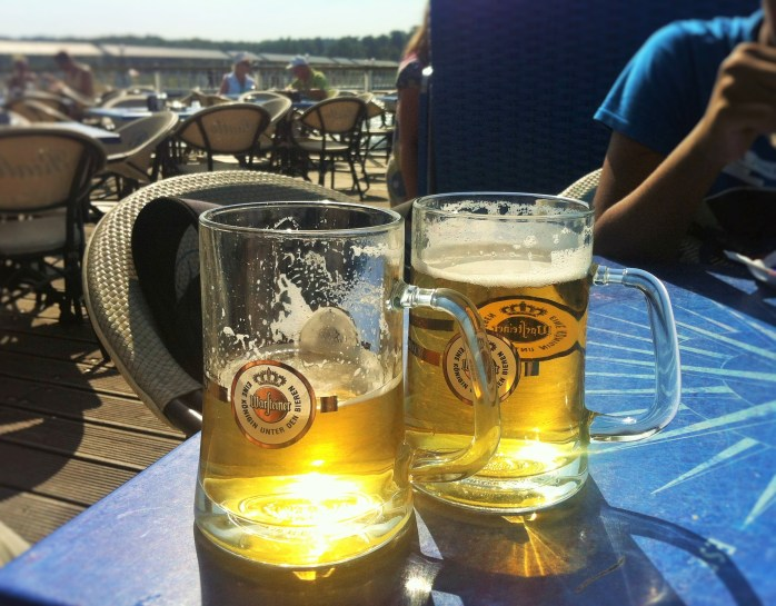 Our ice-cold Warsteiner premium German beer!
