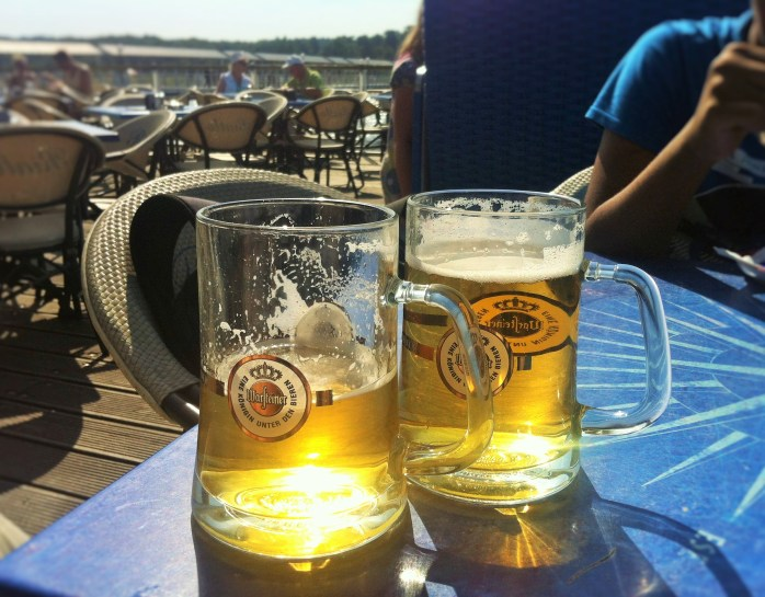 Our ice-cold Warsteiner premium German beer!
